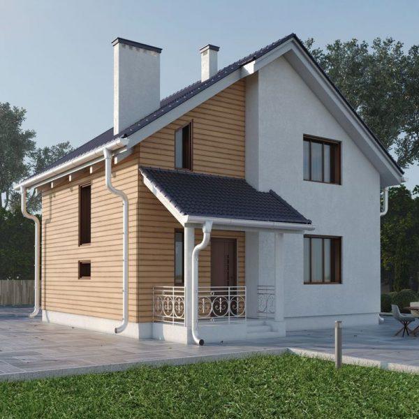 Проект небольшого уютного дома с мансардным этажом