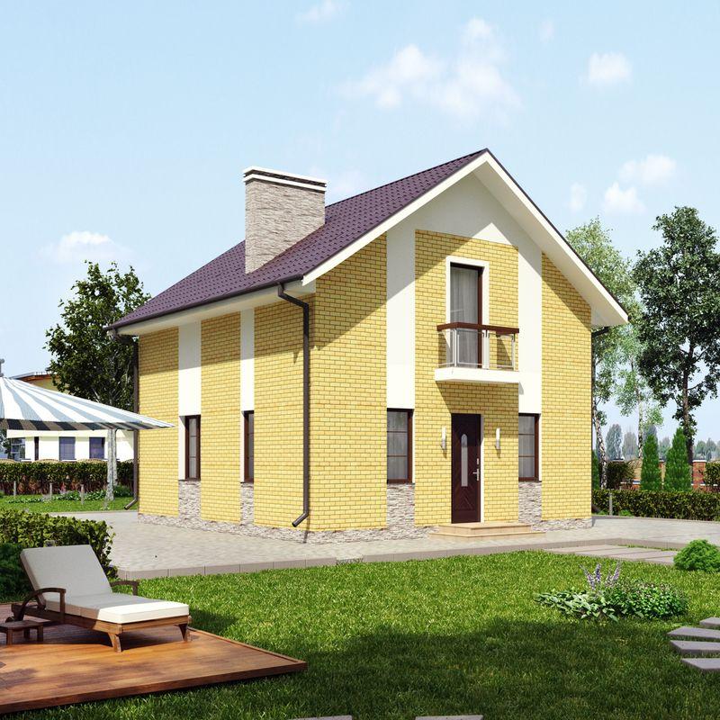 Экономичный проект маленького уютного дома для маленького участка