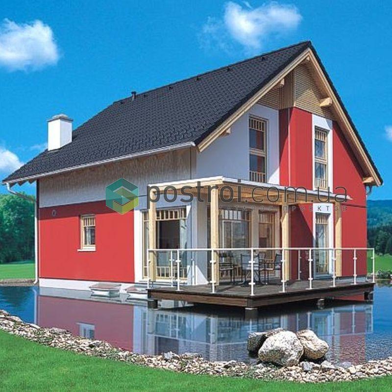 Проект кирпичного дома с мансардой или маснардным этажом