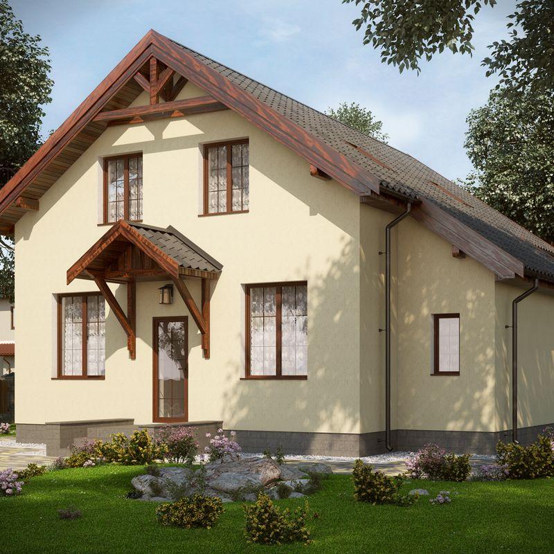 Проект красивого дома с мансардой, проекты красивых домов