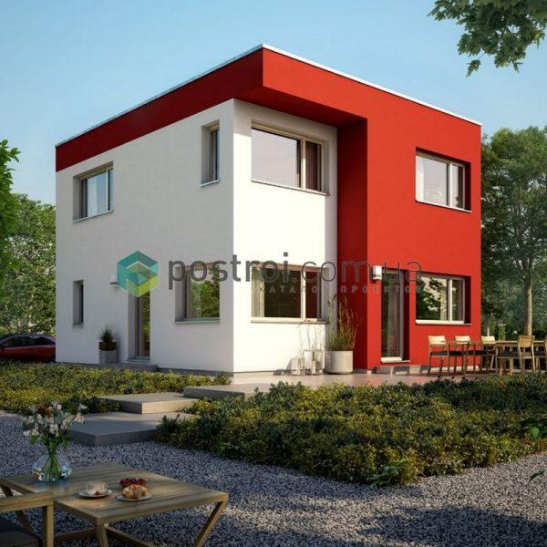 проект небольшого дома в стиле модерн
